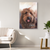 canvas painting of dog