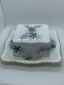 Queen Anne.  England. Square butter dish-  Pattern. Louise