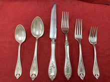 Load image into Gallery viewer, Flatware. 1847 Rogers.Bros. XS Triple, Old Colony,      6pc place setting.