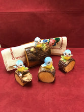 Load image into Gallery viewer, Blue Birds on Log,  Japan  4pc set