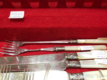 Load image into Gallery viewer, Flatware, Made in England. SS and EPNS with Mother of Pearl (43pc)