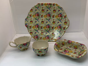 Lord Nelson Ware. England.  ROSE TIME.  Chintz.  4pcs.