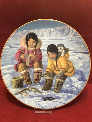 "Collector Plate.  Arctic Spring-""Patience"", by Nori Peter.  9-1/2"""