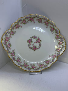 Limoges, Bridal Wreath, Cake Plate with two handles- Pierced