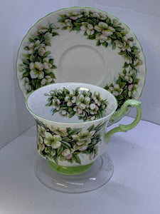 Royal Albert. England. Cup and Saucer.  Orange Blossom. Fragrance Series.