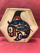 Load image into Gallery viewer, Drum, Indigenous, Killer Whale, by Lorraine Charlie