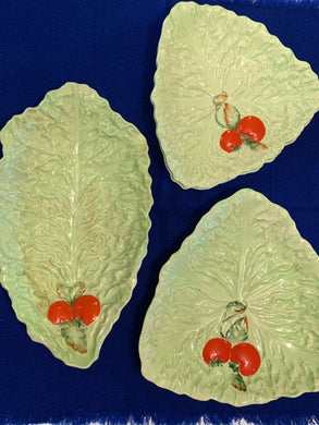 Carlton Ware. England. Serving Dishes- Leaf pattern with tomatoes