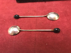 Coffee Spoons, Set of 6.  England, EPNS, Boxed