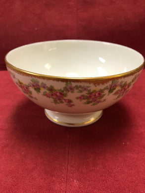 Limoges, Bridal Rose, Small pedestal  bowl