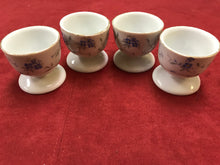 Load image into Gallery viewer, Breakfast Service, Egg Cups, Arzberg, Germany, Bayern, Bone China, 4 Egg cups, Blue and White