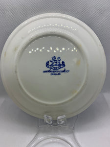 John Maddock & Sons Ltd, England. Vitrified Small Plate- blue and white. 5""