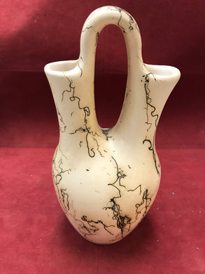 Pottery, Navajo, Horsehair Wedding Vase, Unsigned