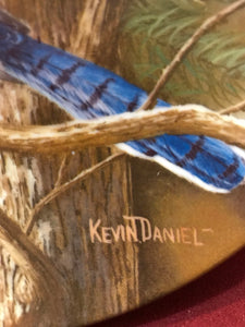 Collector Plate. The Blue Jay, by Kevin Daniels. 9-1/4""