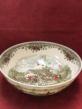 "Load image into Gallery viewer, Johnson Brothers, Tally Ho, Salad Bowl, ""Stirrup Cup"" -12"" diameter"