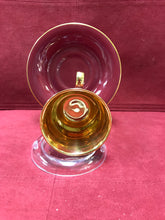 Load image into Gallery viewer, Crown Devon, Burgundy & Gold. Demitasse Cup and Saucer