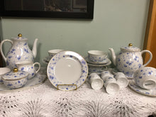 Load image into Gallery viewer, Breakfast Service, Arzberg, Germany, Bayern, Bone China, Tea pot, Blue and White
