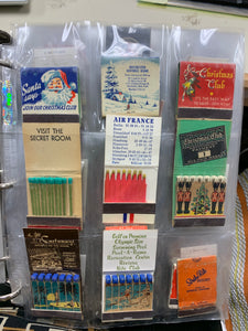 Matchbook Collection-  Binder with 52 pages with 9 pockets in each   (468 pks) various
