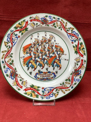 Royal Worcester,  The 12 days of Christmas.  Plate #12
