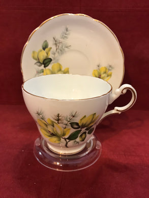 Regency, England.  Cup and Saucer.  Yellow Roses