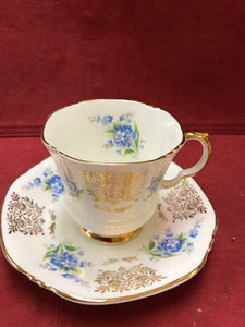 Royal Adderley, Blue Forget-Me-Nots  and Gold Chintz