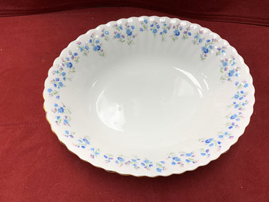 Royal Albert, Memory Lane, Oval Serving Bowl.  Forget-Me-Nots