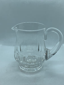 "Crystal, Hand cut, Creamer. Vintage, Long leaf pattern. 3-1/2"" x 2-1/4"""