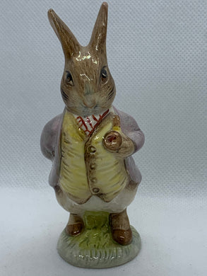 Royal Albert. England. Figurine. Beatrix Potter's —Mr. Benjamin Bunny 1989