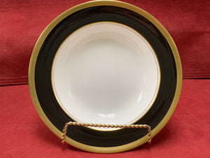 Top View.  Coalport. England. Athlone-Brown & Gold. Soup Bowl