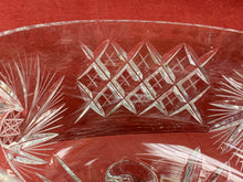 Load image into Gallery viewer, Crystal Serving Dish, 3  footed- Trifle Dish, Pinwheel