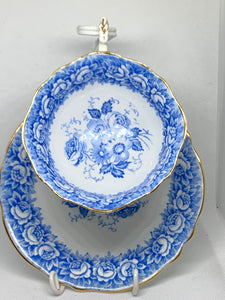 Paragon , England.  Cup and Saucer. Blue and White
