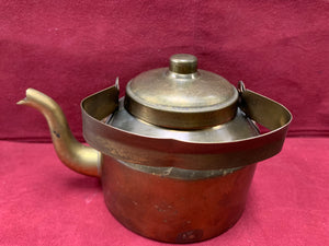 Unmarked- Brass Tea pot.  Vintage.