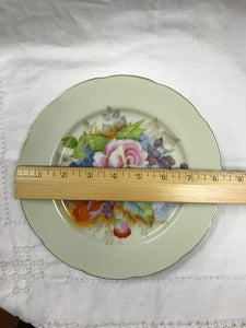 Plates, Occupied Japan,  set of  10-Porcelain Luncheon plates, vintage, floral