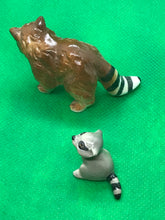 Load image into Gallery viewer, Japan. Porcelain. Miniature Figurine. Raccoons. Set of 2