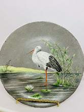Load image into Gallery viewer, Collector Plate- Unmarked. Unsigned. White Stork.  8-3/4""