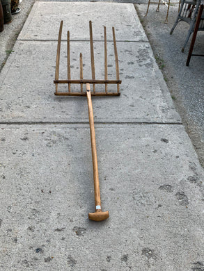 Tools. Hay Rake/Pitch Fork . Wooden. Handmade. Antique. Pick up in Store Only.
