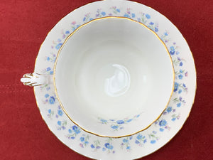 Royal Albert, Memory Lane, Cups and Saucers,   Forget-Me-Nots