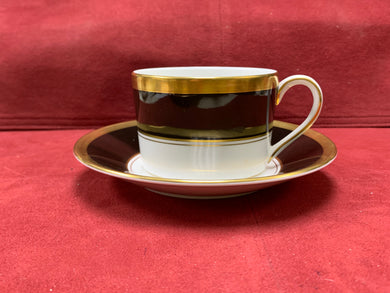 Athlone-Brown & Gold.  Cup and Saucer