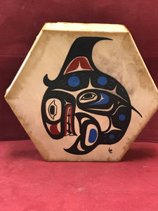 Drum, Indigenous, Killer Whale, by Lorraine Charlie