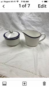 Firenze, Avalon, by Royal Worcester, England.  Creamer and covered Sugar Bowl