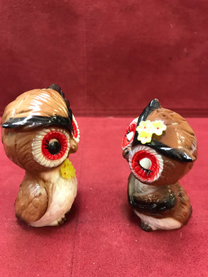 Hong Kong. Collectible Salt and Pepper. Owls,  Vintage