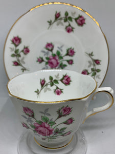 Sutherland. England. cup and Saucer. Pink Roses