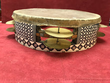 Load image into Gallery viewer, Tambourine- Indigenous, Rawhide- 2 Row Tambourine