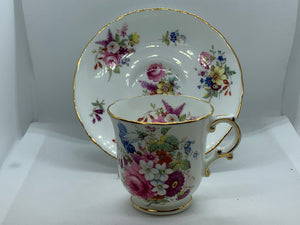 Hammersley, England.   Mixed Floral. Demitasse Cup and Saucer
