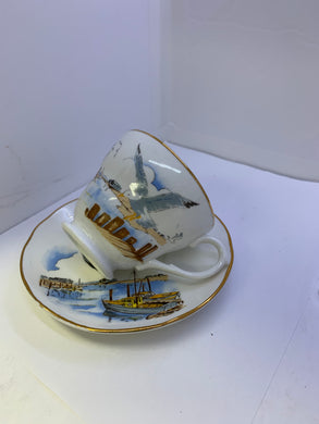 Crown Warwick. England. Cup and Saucer.  Seagull