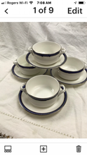 Load image into Gallery viewer, Firenze, Avalon, by Royal Worcester, England, Set of  4, Cream soup Bowls with Underplates