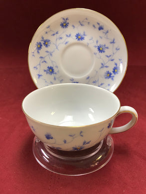 Breakfast Service, Arzberg, Germany, Bayern, Bone China, breakfast trio, Blue and White