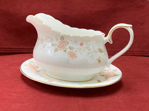 Royal Albert, For All Seasons-Autumn Sunlight.  Gravy Boat with Underplate