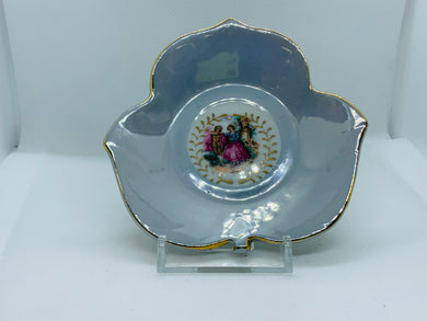 Japan. Lustreware.Demitasse cup and Saucer. Courting Couple