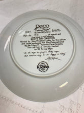 "Load image into Gallery viewer, Back of plate.  Collector Plate. RECO. Becky's Day Series. No. 7 of 7 ""Evening Prayers"". 8-1/2"""