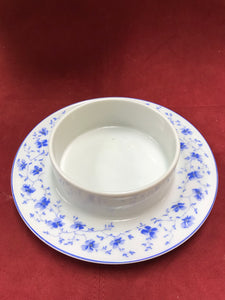 Breakfast Service,  Arzberg, Germany, Bayern, Bone China, Butter Dish, Blue and White